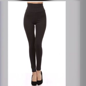 Plus sizes Solid high waist leggings